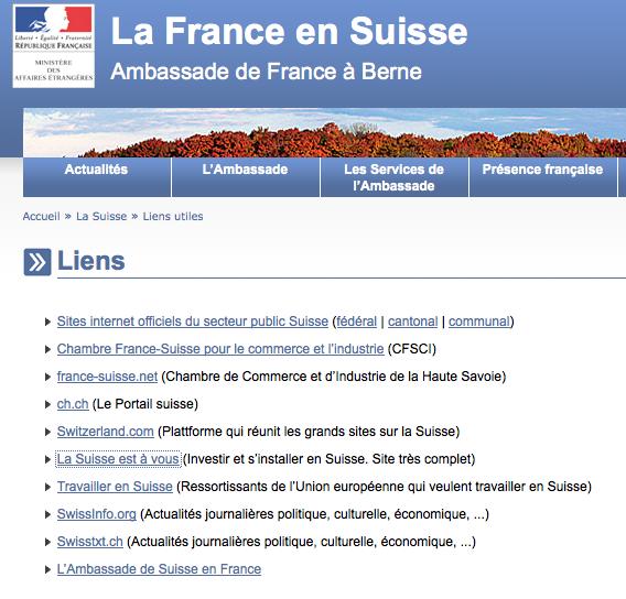 dans une lettre laurent fabius jai demand pourquoi lambassade de france en suisse indique via son site wwwambafrance chorg comment ouvrir un